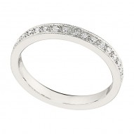 Wedding Band featuring 20 Round Brilliant Diamonds with 0.22ctw in White Gold