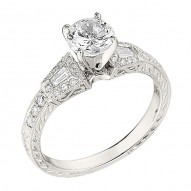 Engagement Ring featuring 26 Round Brilliant Diamonds with 0.20ctw in White Gold