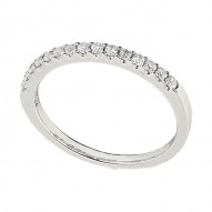 Wedding Band featuring 15 Round Brilliant Diamonds with 0.21ctw in White Gold