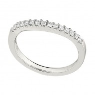 Wedding Band featuring 15 Round Brilliant Diamonds with 0.22ctw in White Gold