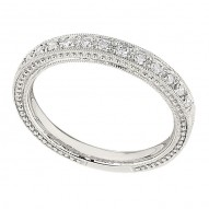Wedding Band featuring 14 Round Brilliant Diamonds with 0.21ctw in White Gold