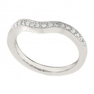 Wedding Band featuring 19 Round Brilliant Diamonds with 0.23ctw in White Gold