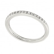 Wedding Band featuring 15 Round Brilliant Diamonds with 0.14ctw in White Gold