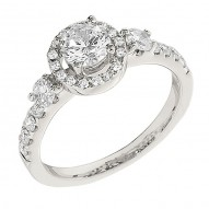 Engagement Ring featuring 26Round Brilliant Diamonds with 0.50ctw in White Gold