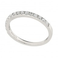 Wedding Band featuring 15 Round Brilliant Diamonds with 0.30ctw in White Gold