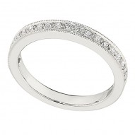 Wedding Band featuring 20 Round Brilliant Diamonds with 0.28ctw in White Gold