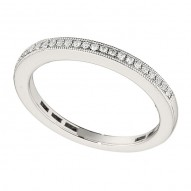 Wedding Band featuring 24 Round Brilliant Diamonds with 0.13ctw in White Gold
