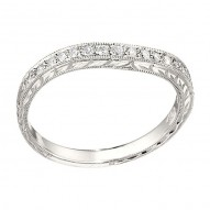 Wedding Band featuring 18 Round Brilliant Diamonds with 0.22ctw in White Gold