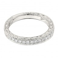 Wedding Band featuring 18 Round Brilliant Diamonds with 0.31ctw in White Gold