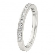 Wedding Band featuring 18 Round Brilliant Diamonds with 0.20ctw in White Gold