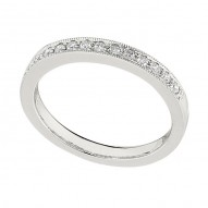 Wedding Band featuring 14 Round Brilliant Diamonds with 0.22ctw in White Gold
