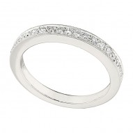 Wedding Band featuring 14 Round Brilliant Diamonds with 0.25ctw in White Gold