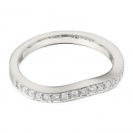 Wedding Band featuring 18 Round Brilliant Diamonds with 0.25ctw in White Gold