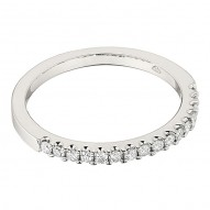 Wedding Band featuring 16 Round Brilliant Diamonds with 0.24ctw in White Gold