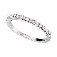 Wedding Band featuring 16 Round Brilliant Diamonds with 0.23ctw in White Gold