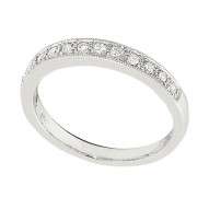 Wedding Band featuring 14 Round Brilliant Diamonds with 0.32ctw in White Gold