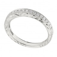 Wedding Band featuring 19 Round Brilliant Diamonds with 0.21ctw in White Gold