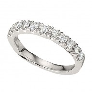 Wedding Band featuring 11 Round Brilliant Diamonds with 0.58ctw in White Gold