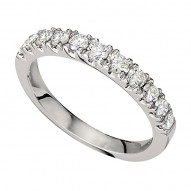 Wedding Band featuring 12 Round Brilliant Diamonds with 0.46ctw in White Gold