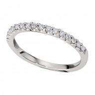 Wedding Band featuring 16 Round Brilliant Diamonds with 0.19ctw in White Gold