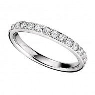 Wedding Band featuring 19 Round Brilliant Diamonds with 0.57ctw in White Gold