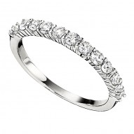 Wedding Band featuring 13 Round Brilliant Diamonds with 0.60ctw in White Gold