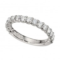 Wedding Band featuring 16 Round Brilliant Diamonds with 1.04ctw in White Gold
