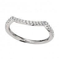 Wedding Band featuring 25 Round Brilliant Diamonds with 0.21ctw in White Gold