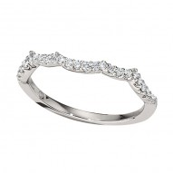 Wedding Band featuring 22 Round Brilliant Diamonds with 0.21ctw in White Gold