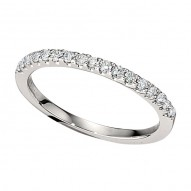 Wedding Band featuring 17 Round Brilliant Diamonds with 0.26ctw in White Gold