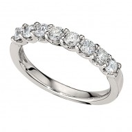 Wedding Band featuring 8 Round Brilliant Diamonds with 0.72ctw in White Gold