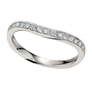 Wedding Band featuring 15 Round Brilliant Diamonds with 0.20ctw in White Gold