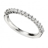 Wedding Band featuring 15 Round Brilliant Diamonds with 0.34ctw in White Gold