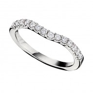 Wedding Band featuring 14 Round Brilliant Diamonds with 0.34ctw in White Gold
