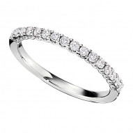 Wedding Band featuring 16 Round Brilliant Diamonds with 0.32ctw in White Gold