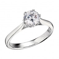 Engagement Ring featuring 12 Round Brilliant Diamonds with 0.04ctw in White Gold