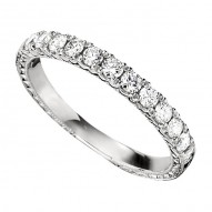 Wedding Band featuring 11 Round Brilliant Diamonds with 0.44ctw in White Gold