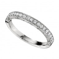 Wedding Band featuring 19 Round Brilliant Diamonds with 0.29ctw in White Gold