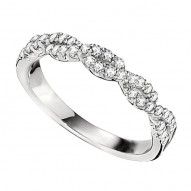 Wedding Band featuring 54 Round Brilliant Diamonds with 0.27ctw in White Gold