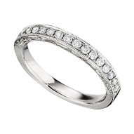 Wedding Band featuring 14 Round Brilliant Diamonds with 0.38ctw in White Gold