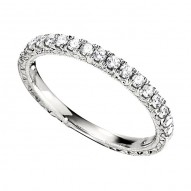 Wedding Band featuring 17 Round Brilliant Diamonds with 0.34ctw in White Gold
