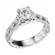Engagement Ring featuring 6 Round Brilliant Diamonds with 0.03ctw in White Gold