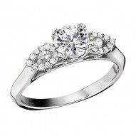 Engagement Ring featuring 24 Round Brilliant Diamonds with 0.20ctw in White Gold