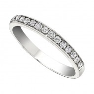 Wedding Band featuring 14 Round Brilliant Diamonds with 0.23ctw in White Gold