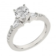 Engagement Ring featuring 8 Round Brilliant Diamonds with 0.14ctw in White Gold