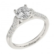 Engagement Ring featuring 38 Round Brilliant Diamonds with 0.40ctw in White Gold