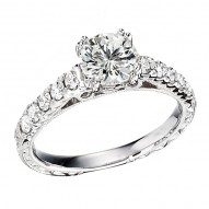 Engagement Ring featuring 10 Round Brilliant Diamonds with 0.40ctw in White Gold