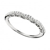 Wedding Band featuring 23 Round Brilliant Diamonds with 0.14ctw in White Gold