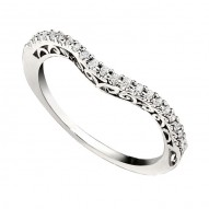 Wedding Band featuring 21 Round Brilliant Diamonds with 0.17ctw in White Gold