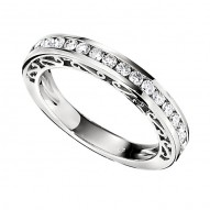 Wedding Band featuring 20 Round Brilliant Diamonds with 0.50ctw in White Gold